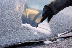 Ice scraping Stock Images