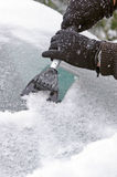 Ice scraping Stock Photography