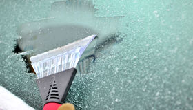 Ice scraping Royalty Free Stock Photography
