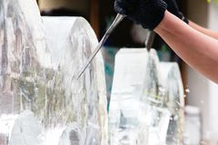 Ice Sculpting Stock Photography