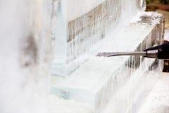 Ice Sculpting Stock Photo