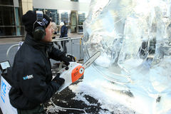 Ice Sculpting Festival - London 2012 Stock Photos