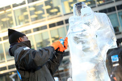 Ice Sculpting Festival - London 2012 Royalty Free Stock Image