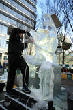 Ice Sculpting Festival - London 2012 Stock Images