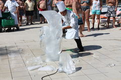Ice Sculpting in Mexico Royalty Free Stock Images