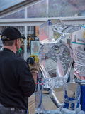 Ice sculpting at Sculpture Festival Royalty Free Stock Images