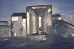 Ice sculpture. From Kiruna Sweden stock photos