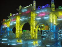 Ice sculpture. This is the art of ice from Haerbin of China Stock Photos