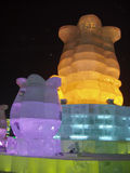 Ice sculpture. This is the art of ice from Haerbin of China Royalty Free Stock Image