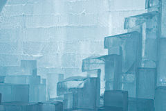 Ice sculpture. Jukkasjarvi ice hotel near Kiruna in Lapland, Sweden stock photos