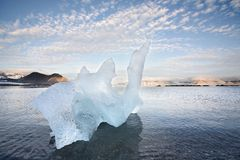 Ice sculpture in the Arctic fjord Stock Image