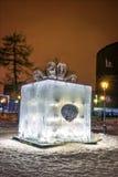 The Ice sculpture: Box of Chocolates Ferrero Rocher . Stock Photo