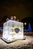 The Ice sculpture: Box of Chocolates Ferrero Rocher . stock photos