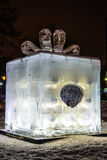 The Ice sculpture: Box of Chocolates Ferrero Rocher . Royalty Free Stock Photo