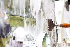 Ice Sculpture Carving Stock Images