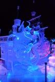 Ice sculpture of Disney's Aladdin cartoon Royalty Free Stock Photography