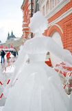 Ice Sculpture exhibition on the Red Square Stock Image
