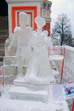 Ice Sculpture exhibition on the Red Square Stock Photos