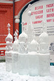 Ice Sculpture exhibition on the Red Square Royalty Free Stock Photo