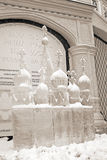 Ice Sculpture exhibition on the Red Square Royalty Free Stock Images