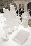 Ice Sculpture exhibition on the Red Square Stock Photo