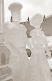 Ice Sculpture exhibition on the Red Square Stock Images