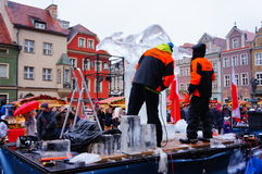 Ice sculpture festival Royalty Free Stock Images