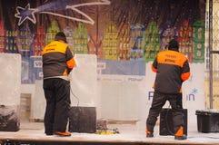 Ice Sculpture Festival in Poznan Stock Photos