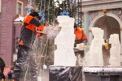 Ice Sculpture Festival in Poznan Stock Images
