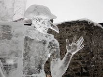 Ice sculpture festival in Savonlinna stock image