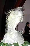 Ice sculpture of fish Royalty Free Stock Image