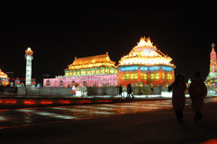 Ice sculpture in harbin Stock Photo