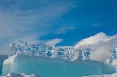 Ice sculpture stock images