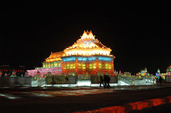 Ice Sculpture In Harbin Royalty Free Stock Photo