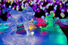 Free Ice Sculpture Night, Beijing Stock Images - 139994024