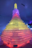 Ice sculpture,pagoda Royalty Free Stock Photo