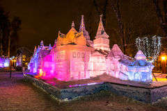 Ice sculpture. Terem.  Fairy Tales of Pushkin. Royalty Free Stock Images
