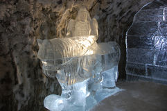 Ice sculpture at underground permafrost museum at Yakutsk Russia Royalty Free Stock Photos