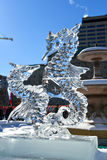Ice sculpture at Winterlude Stock Photos