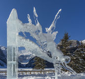 Ice Sculpture of Woman Diving Stock Images