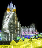 Ice Sculptures at the Harbin Ice and Snow World in Harbin China Stock Photography