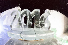 Ice sculptures in icehotel Stock Images