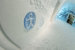 Ice sculptures in icehotel Stock Photos