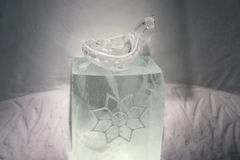 Ice sculptures in icehotel Stock Photography