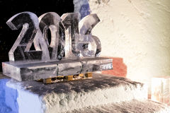 Ice sculptures in icehotel Royalty Free Stock Images