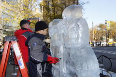 Ice Sculptures in Manhattan Royalty Free Stock Photos