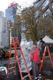 Ice Sculptures in Manhattan Stock Photos