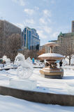 Ice sculptures  at Ottawa`s Winterlude Royalty Free Stock Photos