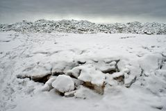 Ice at the sea coast Stock Photo