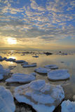Ice on sea seaboard Royalty Free Stock Photos